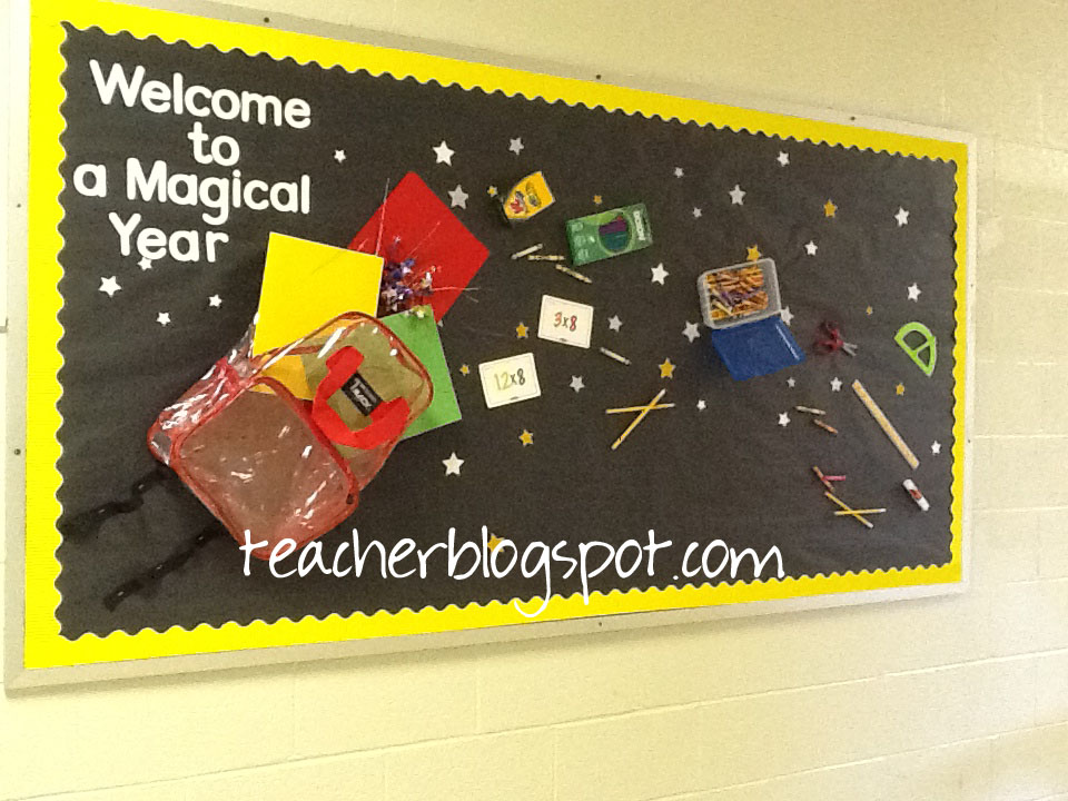 Easy but cute back to school bulletin board teacher blog for Back to school board decoration