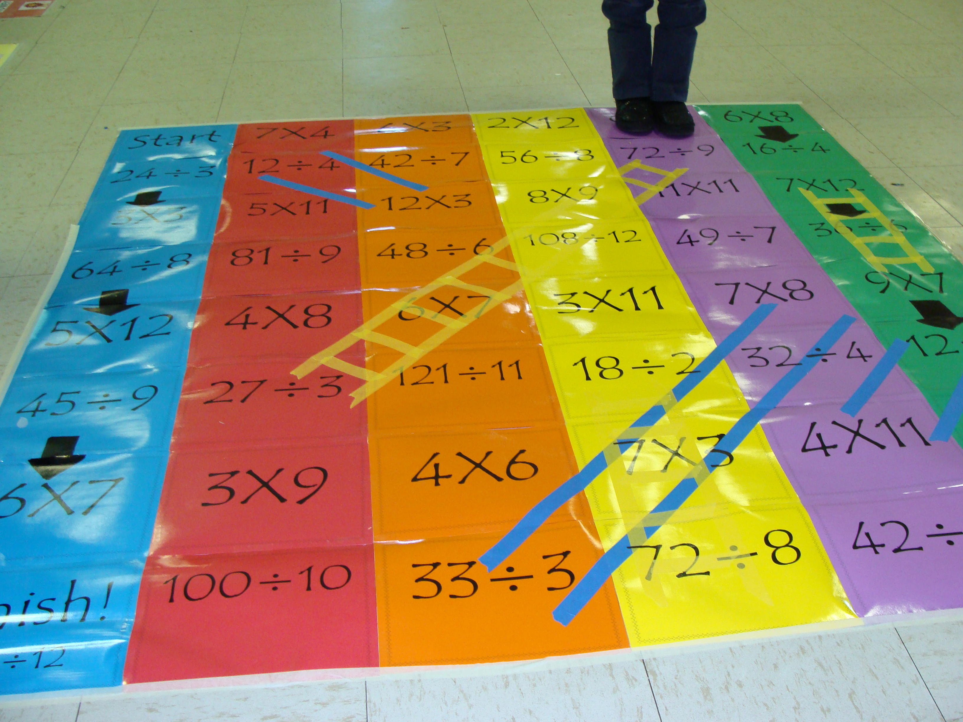 Giant chutes and ladders game board ms o 39 donnell can for Chutes and ladders board game template