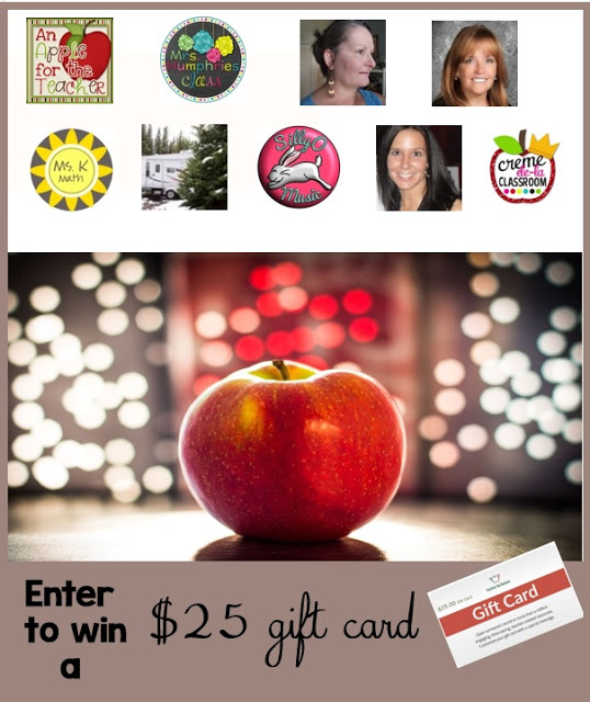 $25 TpT Gift Card Giveaway An Apple for the Teacher July 9