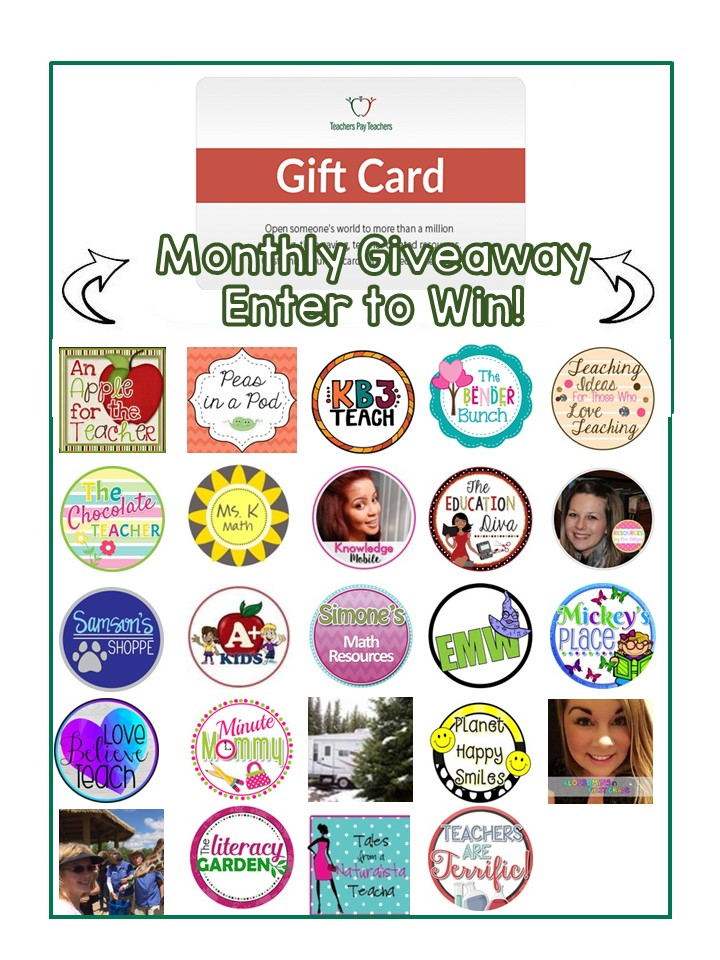 July 2016 $75 TpT gift card Giveaway An Apple for the Teacher