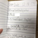 thankfulness journal project
