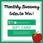 monthly $75 TpT Gift Card Giveaway An Apple for the Teacher