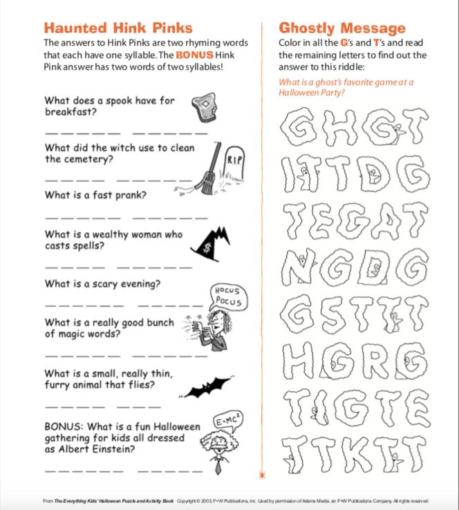 5 Fun Activities For Halloween Teacher Blog Spot