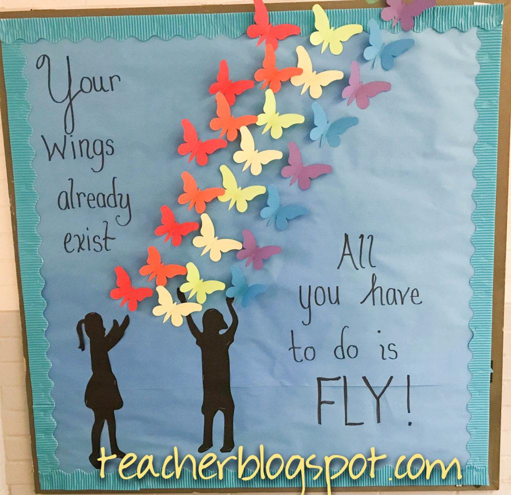 Cute And Encouraging Spring Bulletin Board Idea Teacher Blog Spot