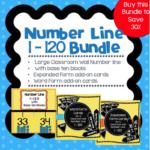 Number Line Word Cards Expanded Form Cards Bundle
